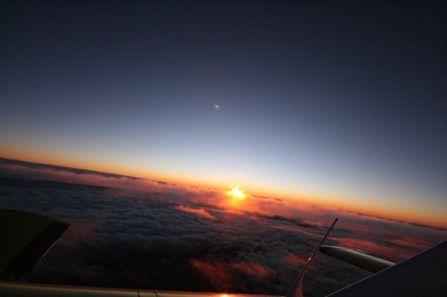 11-Sunset from the Plane